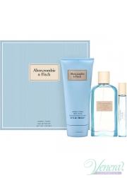 Abercrombie & Fitch First Instinct Blue for Her Set (EDP 100ml + EDP 15ml + BL 200ml) για γυναίκες Γυναικεία Σετ