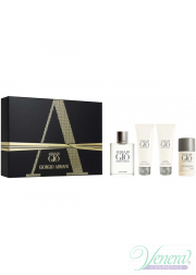 Armani Acqua Di Gio Set (EDT 100ml + AS Balm 75ml + SG 75ml + Deo Stick 75ml) για άνδρες Ανδρικά Σετ