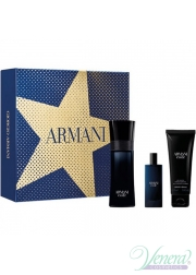 Armani Code Set (EDT 75ml + EDT 15ml + SG 75ml) για άνδρες Ανδρικά Σετ