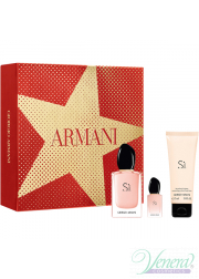 Armani Si Fiori Set (EDP 50ml + EDP 7ml + BL 75ml) για γυναίκες Γυναικεία Σετ