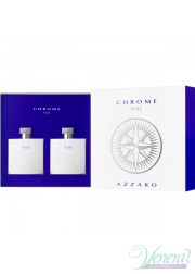 Azzaro Chrome Pure Set (EDT 100ml + AS Lotion 100ml) για άνδρες Men's Gift sets