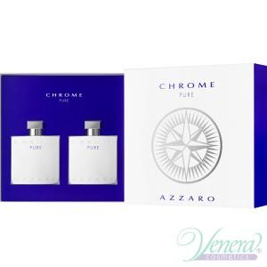 Azzaro Chrome Pure Комплект (EDT 100ml + AS Lotion 100ml) за Мъже