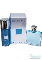 Azzaro Chrome Set (EDT 100ml + Deo Spray 150ml) για άνδρες Αρσενικά Σετ