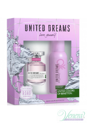 Benetton United Dreams Love Yourself Set (EDT 80ml + Deo Spray 150ml) για γυναίκες Γυναικεία Σετ