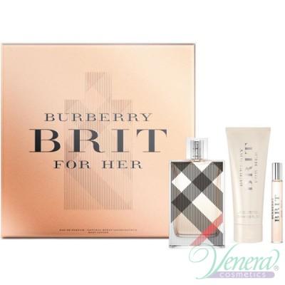 Burberry Brit Set (EDP 100ml + EDP 7.5ml + BL 75ml) για γυναίκες Women's Gift sets