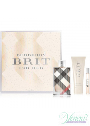 Burberry Brit Set (EDP 100ml + EDP 7.5ml + BL 75ml) για γυναίκες Women's Gift sets