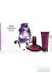 Calvin Klein Deep Euphoria Set (EDP 100ml + EDP 10ml + BL 100ml) για γυναίκες Γυναικεία σετ
