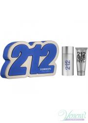 Carolina Herrera 212 Set (EDT 100ml + Shower Gel 100ml) για άνδρες Ανδρικά Σετ