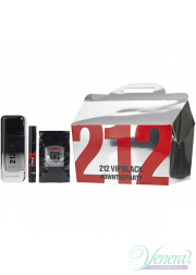 Carolina Herrera 212 VIP Black Set (EDP 100ml + EDP 3ml + 12 x SG 8ml) για άνδρες Ανδρικά Σετ