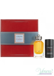 Cartier L'Envol Set (EDP 80ml + Deo Stick 75ml) για άνδρες Men's Gift Sets