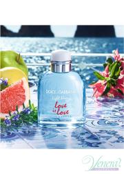 Dolce&Gabbana Light Blue Love Is Love Pour Homme EDT 125ml για άνδρες Ανδρικά Аρώματα