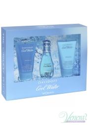 Davidoff Cool Water Set (EDT 30ml + BL 50ml + SG 50ml) για γυναίκες Γυναικεία Σετ