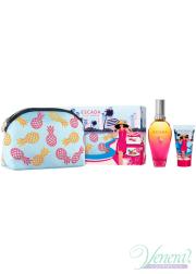 Escada Miami Blossom Set (EDT 50ml + BL 50ml + Bag) για γυναίκες Γυναικεία Σετ