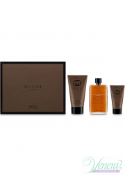 Gucci Guilty Absolute Set (EDP 90ml + AS Balm 50ml + SG 150ml) για άνδρες Men's Gift sets