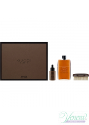 Gucci Guilty Absolute Set (EDP 150ml + Beard Oil 30ml + Brush) για άνδρες Ανδρικά Σετ