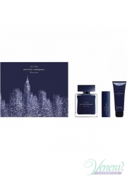 Narciso Rodriguez for Him Bleu Noir Set (EDT 100ml + EDT 10ml + SG 75ml) για άνδρες Ανδρικά Σετ