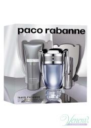 Paco Rabanne Invictus Set (EDT 100ml + EDT 10ml + SG 75ml) για άνδρες Αρσενικά Σετ