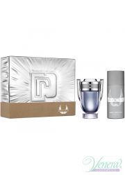Paco Rabanne Invictus Set (EDT 100ml + Deo Spray 150ml) για άνδρες Men's Gift sets