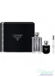 Prada L'Homme Set EDT (100ml + EDT 10ml + Shower Cream 100ml) για άνδρες Ανδρικά Σετ