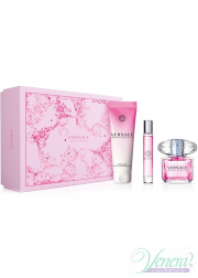 Versace Bright Crystal Set (EDT 90ml + EDT Roll On 10ml + SG 150ml) για γυναίκες Γυναικεία σετ