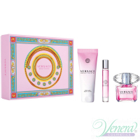 Versace Bright Crystal Set (EDT 90ml + EDT 10ml + BL 150ml) για γυναίκες Γυναικεία σετ