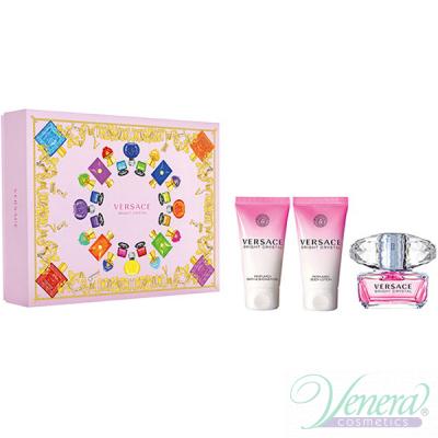 Versace Bright Crystal Set (EDT 50ml + BL 50ml + SG 50ml) για γυναίκες Γυναικεία σετ