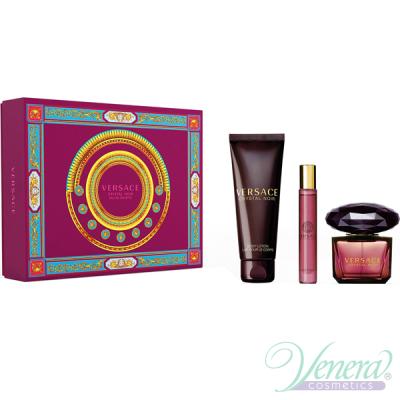 Versace Crystal Noir Set (EDT 90ml + EDT 10ml + BL 150ml) για γυναίκες
