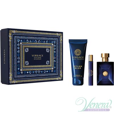Versace Pour Homme Dylan Blue Set (EDT 100ml + EDT 10ml + SG 150ml) για άνδρες