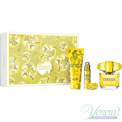 Versace Yellow Diamond Set (EDT 90ml + EDT 10ml + BL 100ml) για γυναίκες Γυναικεία Σετ