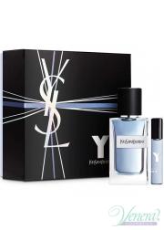 YSL Y For Men Set (EDT 100ml + EDT 10ml) για άνδρες Gift Sets