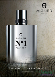 Aigner No1 Platinum EDT 100ml for Men Without Package Men's Fragrances without package