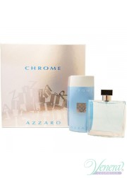 Azzaro Chrome Set (EDT 100ml + SG 200ml) για άνδρες Αρσενικά Σετ