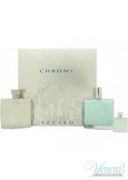 Azzaro Chrome Set (EDT 100ml + AS Balm 100ml + EDT 7ml) για άνδρες Men's Gift sets