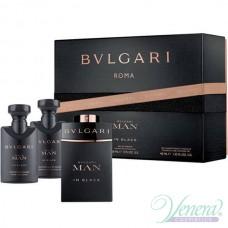Bvlgari Man In Black Set (EDP 60ml + AS Balm 40ml + SG 40ml) για άνδρες