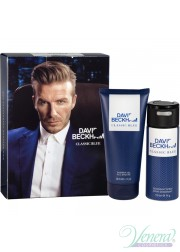 David Beckham Classic Blue Set (Deo Spray 150ml + SG 200ml) for Men Men's Gift sets