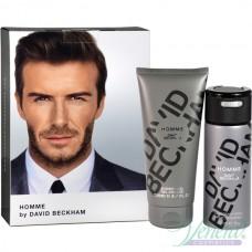 David Beckham Homme Set (Deo Spray 150ml + SG 200ml) for Men