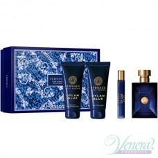 Versace Pour Homme Dylan Blue Set (EDT 100ml + EDT 10ml + SG 100ml + AS Balm 100ml) για άνδρες
